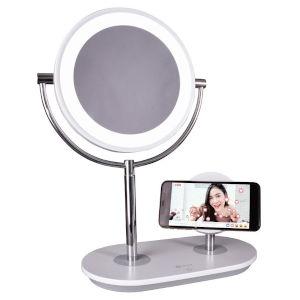 White Wireless Charging LED Makeup Mirror