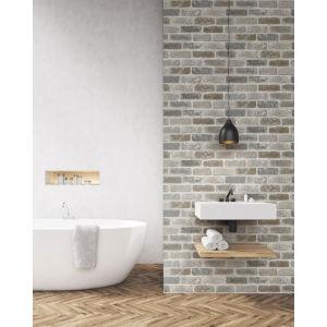NextWall Washed Brick Peel and Stick Wallpaper