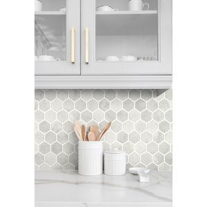 NextWall Inlay Hexagon Peel and Stick Wallpaper