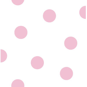 Day Dreamers Pink and White Dots Unpasted Wallpaper