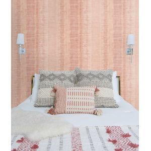 Boho Rhapsody Pink Sunset Tikki Natural Ombre Unpasted Wallpaper
