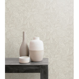 Boho Rhapsody Daydream Gray and Pearl Sierra Marble Unpasted Wallpaper