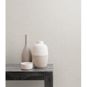 Boho Rhapsody Gray Mist Bermuda Linen Stringcloth Unpasted Wallpaper
