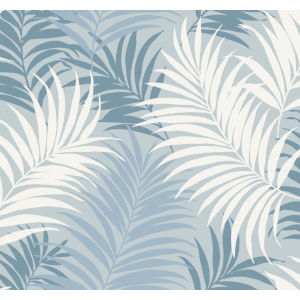 Lillian August Luxe Retreat Blue Frost, Carolina Blue and Air Force Blue Via Palma Unpasted Wallpaper