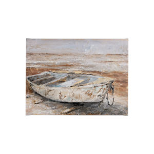 Multicolor Weathered Rowboat I Wall Art