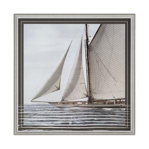 White Sailing South Wall Art