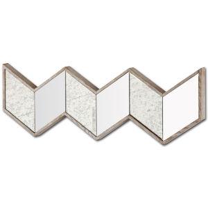 Cheveronna Brown 14-Inch Wood Frame Wall Mirror