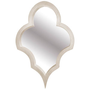 Geneva White Wood Frame Wall Mirror