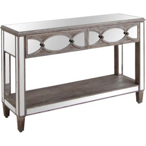 Tottise Brown Two Drawer Console Table