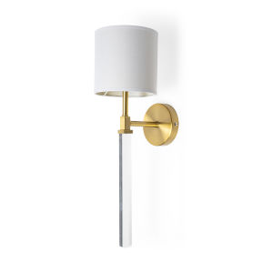 Santander II Gold and White One-Light Wall Sconce