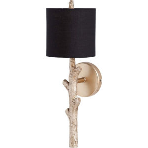 Sabinal II Black and Gold One-Light Wall Sconce