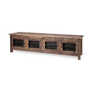 Wilton II Medium Brown Reclaimed Wood TV Stand Media Console with Door