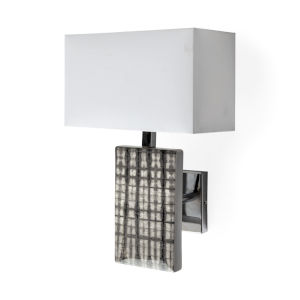 Arcadia II Silver and Chrome One-Light Wall Sconce