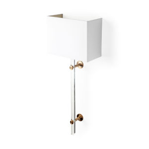Cantabria White and Brass Acrylic One-Light Wall Sconce