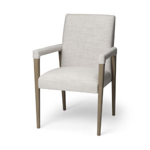 Palisades Cream and Brown Dining Arm Chair