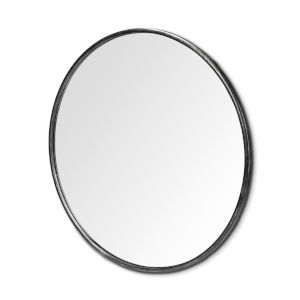 Piper Black Round Wall Mirror