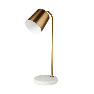 Sanderson Gold and White Marble One-Light Table Lamp
