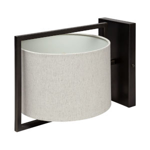 Smithe I Black and Cream One-Light Wall Sconce