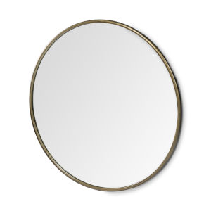 Piper II Gold Round Wall Mirror