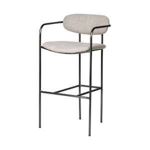 Parker Black and Cream Bar Height Stool