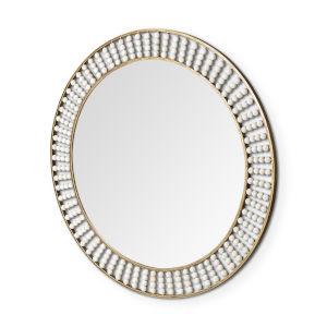 Claiborne Gold Round Wall Mirror