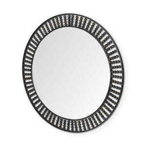 Claiborne Black Round Wall Mirror
