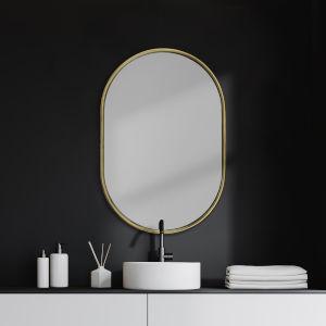 Sylvia I Gold Oval Wall Mirror