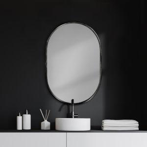 Sylvia II Black Oval Wall Mirror