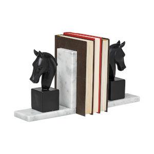 Hidalgo Black Majestic Horse Bust Bookend
