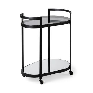 Eleonore Black Two-Tier Bar Cart