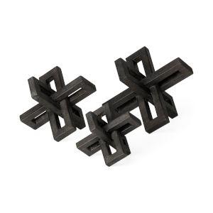 Aleph Black Metal Jack, Set of Three