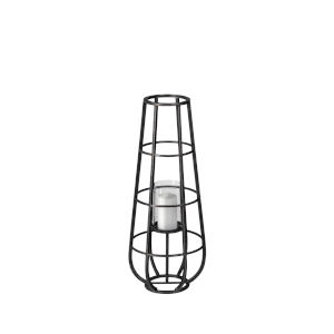 Bella Black 30-Inch Cylindrical Cage Candle Holder