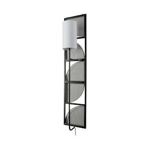 Navin Black and White One-Light Rectangular Wall Sconce