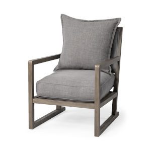 Sherlock Flint Gray Arm Chairs