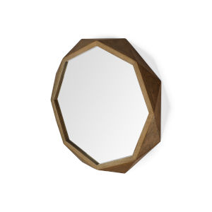 Aramis I Brown Octagonal Wall Mirror