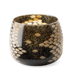 Mojave Gold and Black Glass Vase