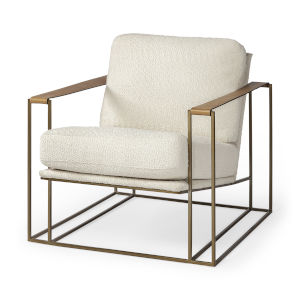 Watson Gold and Cream Arm Chair