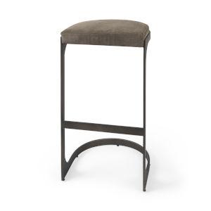 Tyson Dark Brown Leather Seat Bar Height Stool