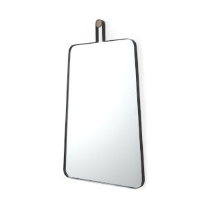 Collie II Black Wall Mirror