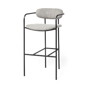 Parker Gray and Black Bar Height Stool
