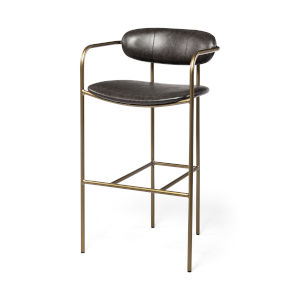 Parker Brown and Gold Bar Height Stool