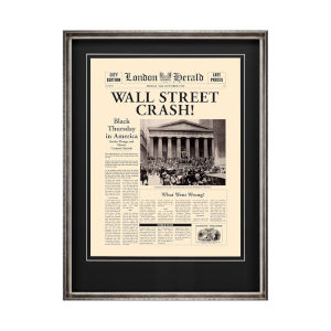 SIlver Wall Street Crash Wall Art