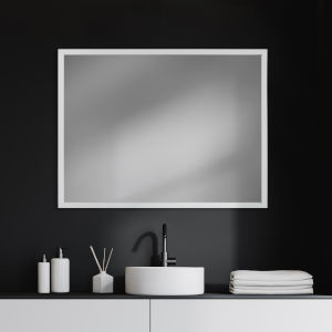 White 30 X 40 In. Wall Mirror