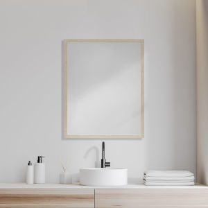 Tan 32-Inch Wall Mirror