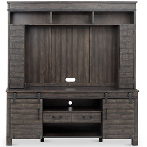 River Station Entertainment Wall in Weathered Charcoal