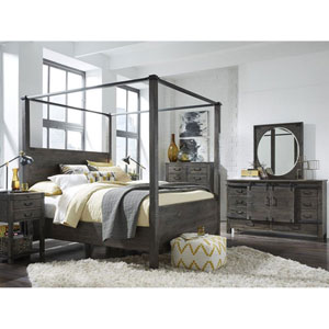 River Station Poster Bed in Weathered Charcoal - California King