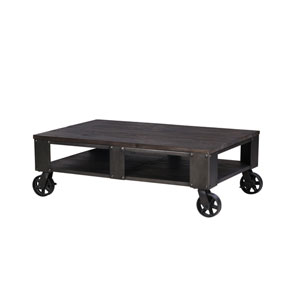 River Station Rectangular Cocktail Table on casters