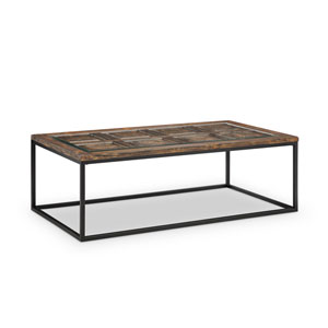 Afton Rectangular Cocktail Table in Burnished Brown