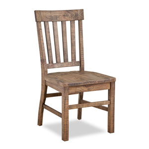 Quinn Dining Side Chair Wood Seat and Wood Slat Back in Weathered Barley