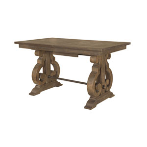 Quinn Rectangular Counter Height Table in Weathered Barley